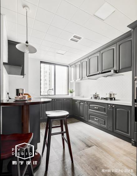 精美120平米四居厨房美式装修效果图餐厅