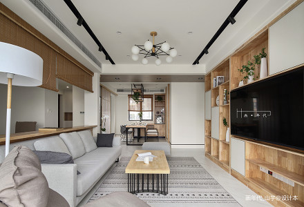 精美面积96平日式三居客厅装饰图片客厅