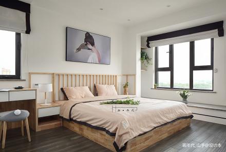精选91平米三居卧室日式实景图片大全卧室