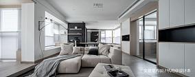 2018105平大小客厅三居现代装修效果图片欣赏