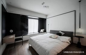 热门107平米三居卧室现代实景图片