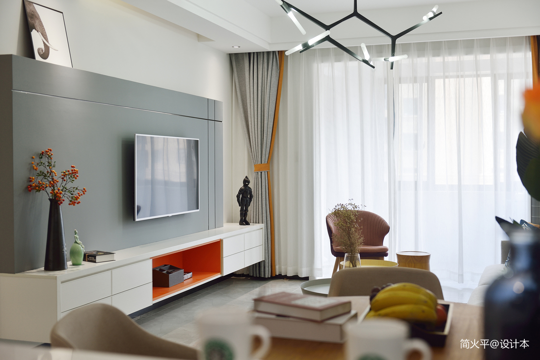 2018大小76平混搭二居客厅装修设计效果图片大全客厅