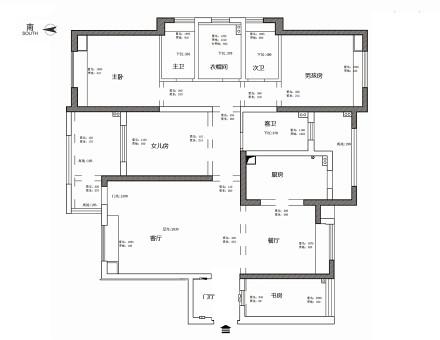 温馨134平美式四居装修案例