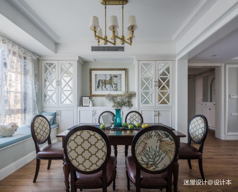 美式四居餐厅背景墙设计客厅窗帘美式经典客厅设计图片赏析