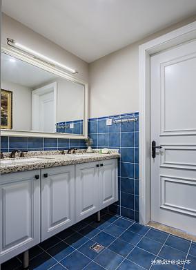 美式四居洗手间设计四居及以上美式经典家装装修案例效果图