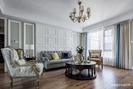 美式四居沙发背景墙设计