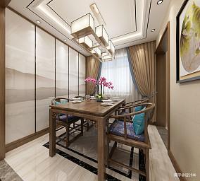 精美99平米三居餐厅中式装修设计效果图
