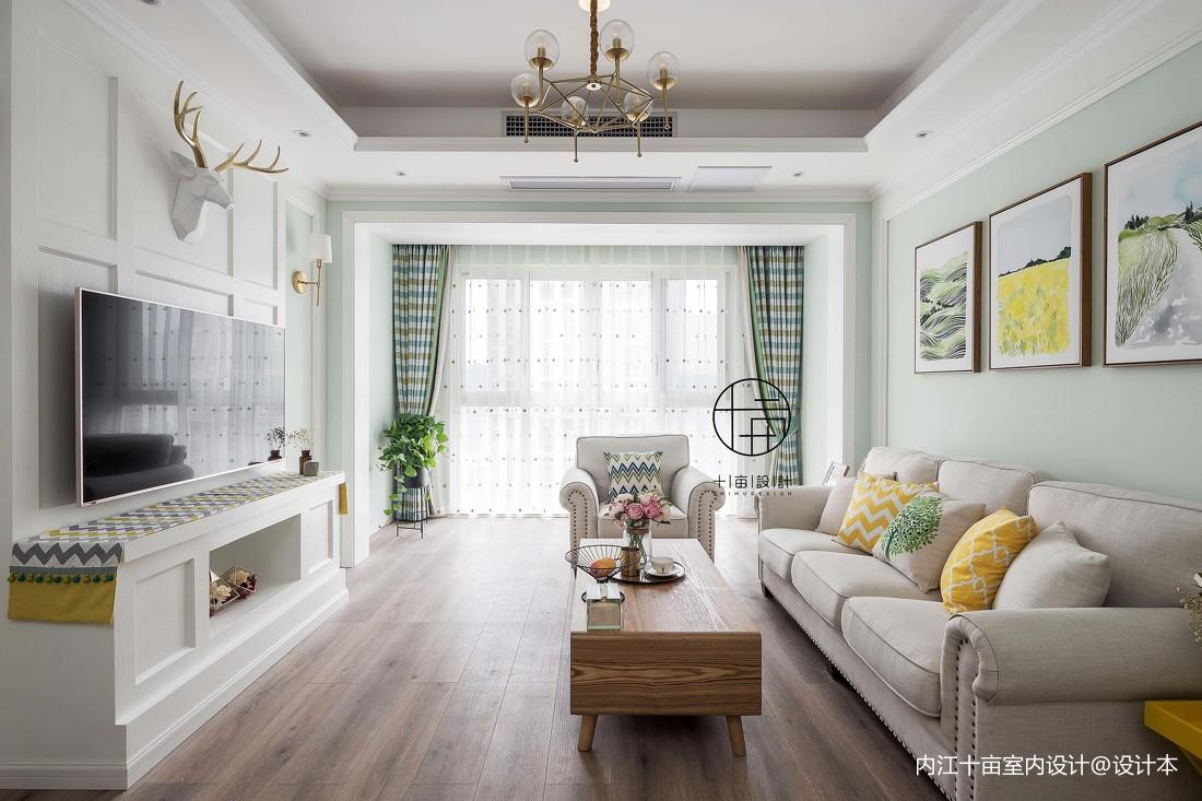 精选混搭3室客厅效果图片欣赏95.01平客厅2图