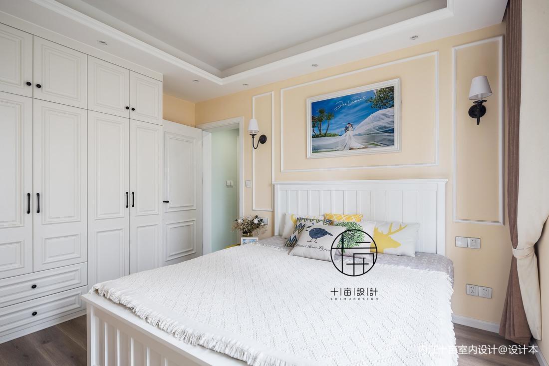 104平方三居卧室混搭装修实景图片卧室