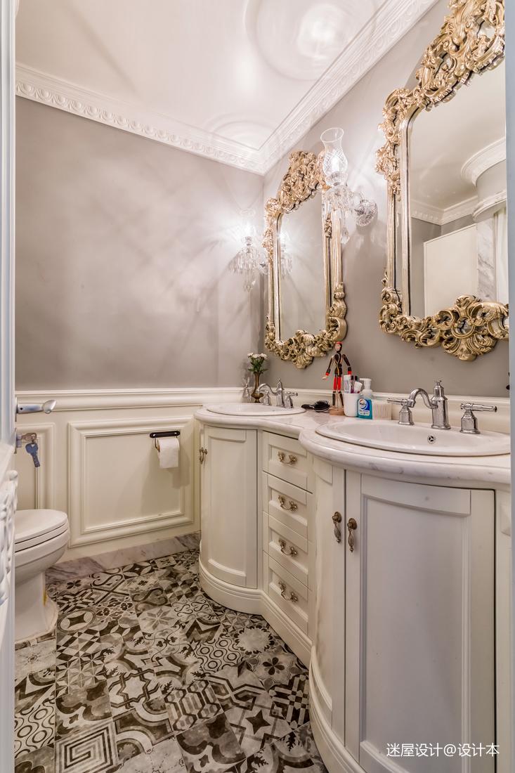 美式复古浴室设计图卫生间美式经典卫生间设计图片赏析