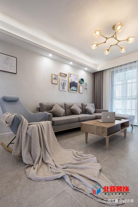 精美大小109平北欧三居客厅效果图片欣赏