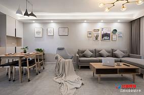 2018精选面积98平北欧三居客厅装修设计效果图片