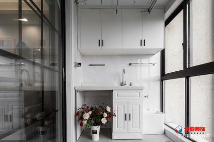 热门面积92平北欧三居阳台装修实景图片大全阳台