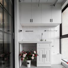 热门面积92平北欧三居阳台装修实景图片大全