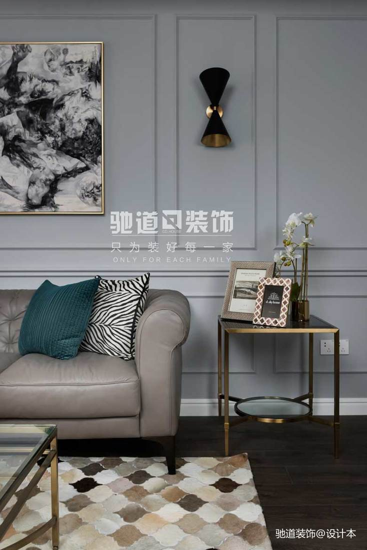精美109平米三居客厅美式装修设计效果图片大全客厅