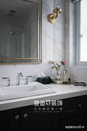 精选100平米三居卫生间美式装修欣赏图