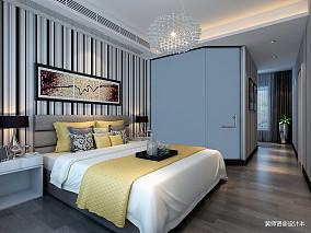 2018精选面积94平简约三居卧室装修设计效果图片
