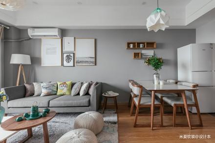 典雅60平北欧二居客厅装修图二居北欧极简家装装修案例效果图