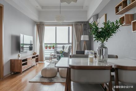 典雅58平北欧二居客厅装修效果图