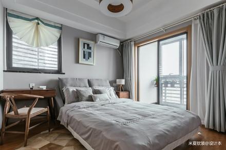 温馨86平北欧二居卧室装修装饰图