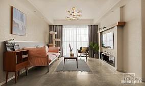 2018精选面积98平北欧三居客厅效果图片大全