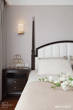 热门94平米三居卧室美式实景图片大全