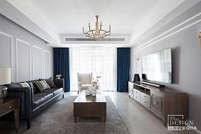 热门107平米三居客厅美式装修设计效果图片大全