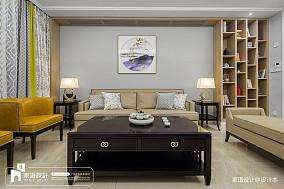 平方四居客厅中式装修实景图四居及以上中式现代家装装修案例效果图