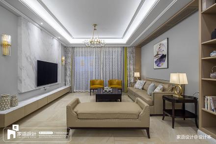 2018精选110平米四居客厅中式装修效果图客厅