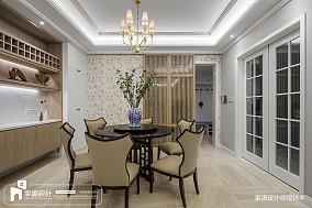 116平米四居餐厅中式装饰图片大全四居及以上中式现代家装装修案例效果图
