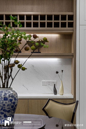 精选124平米四居餐厅中式装修设计效果图片四居及以上中式现代家装装修案例效果图