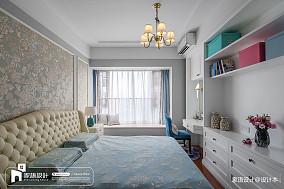 137平米四居卧室中式装修欣赏图四居及以上中式现代家装装修案例效果图