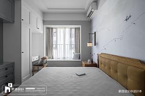 2018精选面积137平中式四居卧室欣赏图四居及以上中式现代家装装修案例效果图