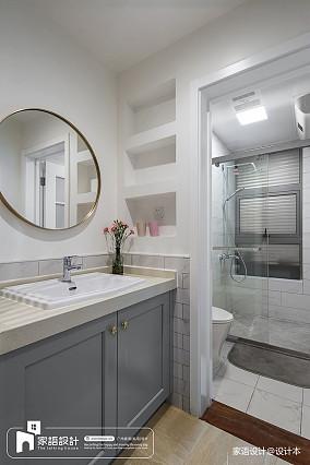 热门面积113平中式四居卫生间欣赏图片四居及以上中式现代家装装修案例效果图