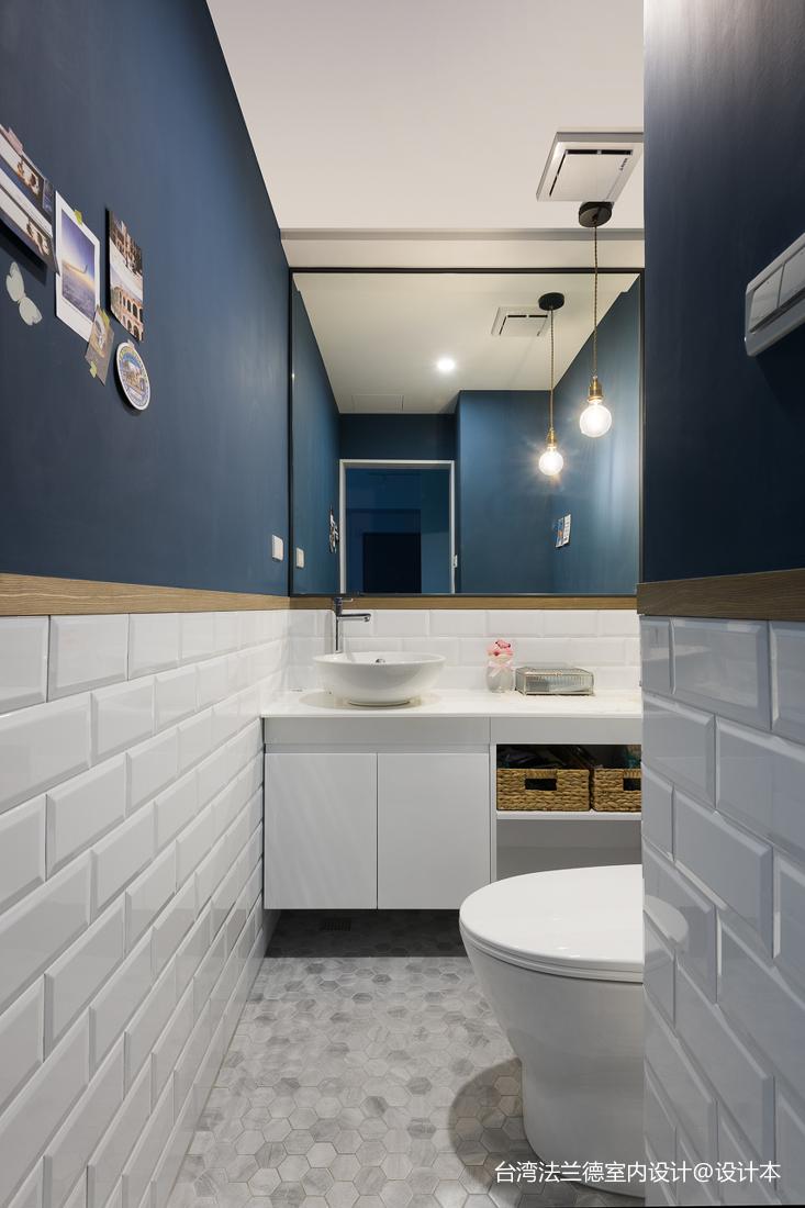 LOFT二居浴室设计卫生间潮流混搭卫生间设计图片赏析