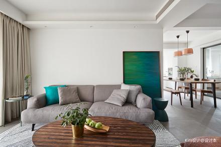 面积126平北欧四居客厅装修效果图