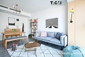 102平米三居客厅北欧装修效果图片欣赏