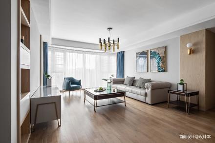 2018面积96平北欧三居客厅装饰图片欣赏