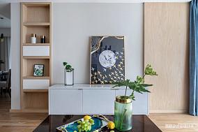 精美102平北欧三居客厅实景图三居北欧极简家装装修案例效果图