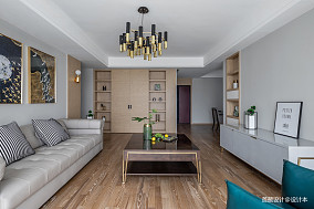 2018精选面积93平北欧三居客厅装修图三居北欧极简家装装修案例效果图