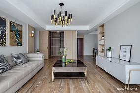 2018面积92平北欧三居客厅装修图三居北欧极简家装装修案例效果图