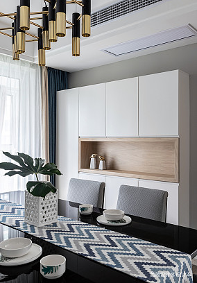 2018面积92平北欧三居餐厅装修图三居北欧极简家装装修案例效果图