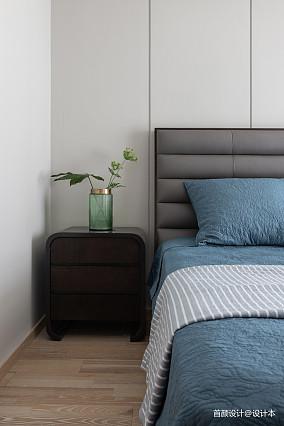精美92平米三居卧室北欧装饰图三居北欧极简家装装修案例效果图