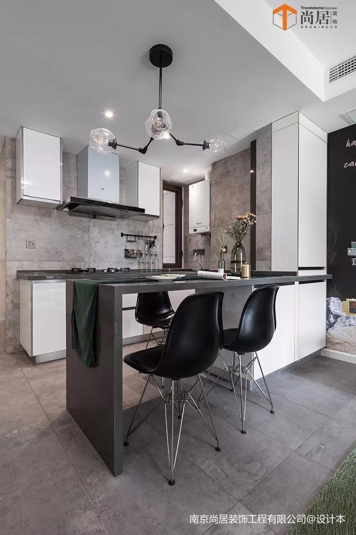 精美74平米二居餐厅现代装修图片大全厨房现代简约餐厅设计图片赏析
