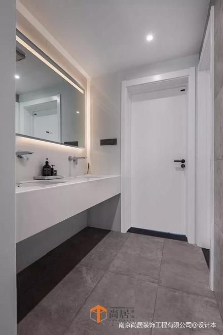 精美76平米二居卫生间现代装饰图片欣赏