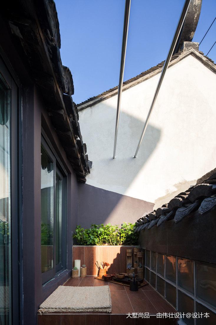 平米中式小户型阳台装修欣赏图阳台中式现代阳台设计图片赏析