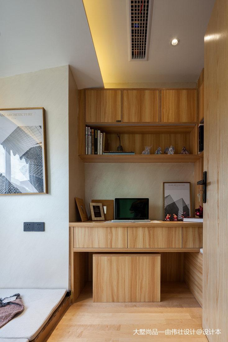 热门86平米中式小户型书房装修设计效果图功能区中式现代功能区设计图片赏析