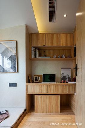 热门86平米中式小户型书房装修设计效果图一居中式现代家装装修案例效果图