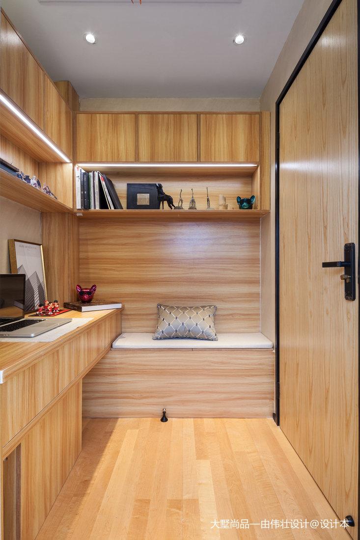精美73平米中式小户型书房装修欣赏图功能区3图中式现代功能区设计图片赏析
