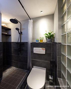 2018精选面积73平小户型卫生间中式实景图片欣赏一居中式现代家装装修案例效果图